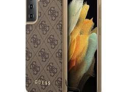 Guess 4G Charms Collection - Etui iPhone Samsung Galaxy S21 (brązowy)