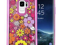 Zizo Liquid Glitter Star Case - Etui Samsung Galaxy S9 (Multiflowers)