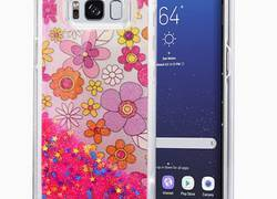 Zizo Liquid Glitter Star Case - Etui Samsung Galaxy S8 (Multiflowers)