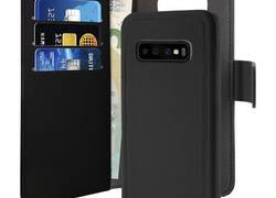 PURO Wallet Detachable - Etui 2w1 Samsung Galaxy S10+ (czarny)