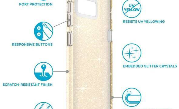 Speck Presidio Clear with Glitter - Etui Samsung Galaxy S8 (Gold Glitter/Clear) - zdjęcie 12