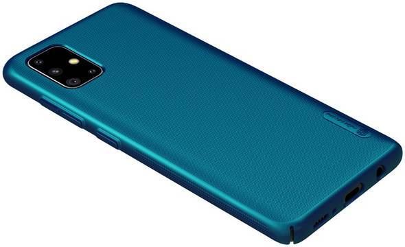 Nillkin Super Frosted Shield - Etui Samsung Galaxy A51 (Peacock Blue) - zdjęcie 4