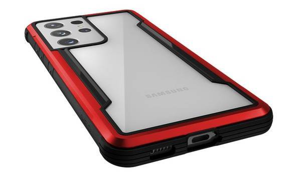 X-Doria Raptic Shield - Etui aluminiowe Samsung Galaxy S21 Ultra (Antimicrobial protection) (Red) - zdjęcie 5