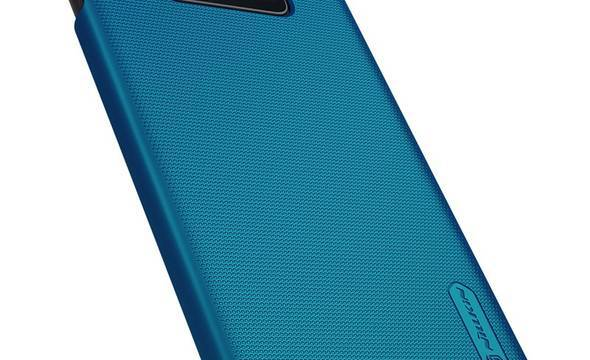 Nillkin Super Frosted Shield - Etui Samsung Galaxy S10e (Peacock Blue) - zdjęcie 2